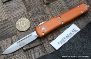 Microtech 148-4OR UTX-70 S/E Orange Satin Standard