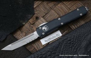 Нож Microtech Ultratech T/E Stonewash Partial Serrated 123-11